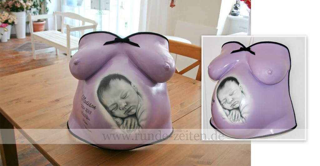 neues aus dem babybauch gipsabdruck atelier belly deluxe. Black Bedroom Furniture Sets. Home Design Ideas