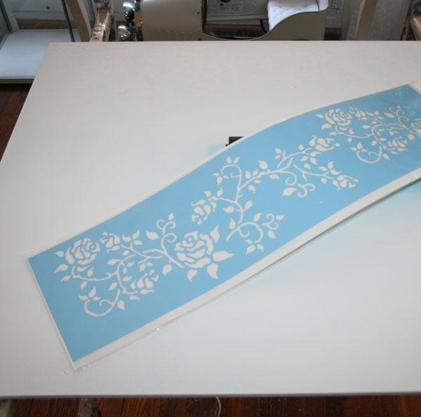 Schablone für Holzplatte