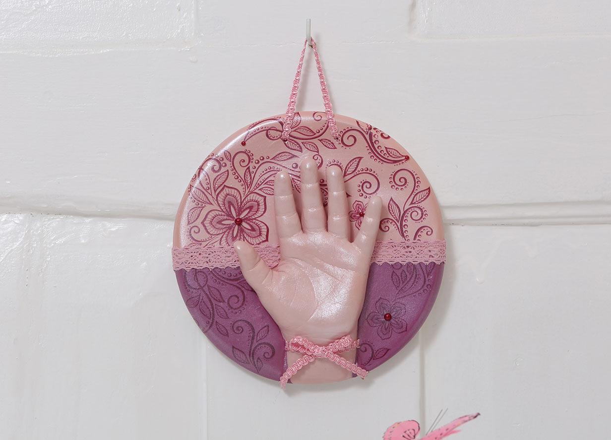 Belly Deluxe Handabdruck Set Wandteller