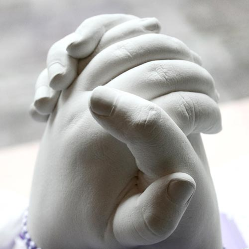 Geschwister Handabdruck 3D