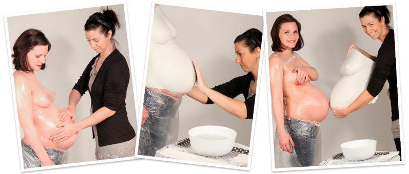 Babybauch abformen, Gipsabdruck Set, Babybauchabdruck selber machen