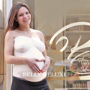 Gipsabdruck Set Babybauch mit Gipsbinden
