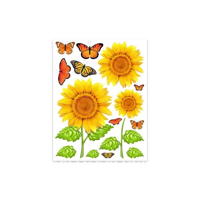 Gipsabdruck Motive Sonnenblumen und Schmetterlinge