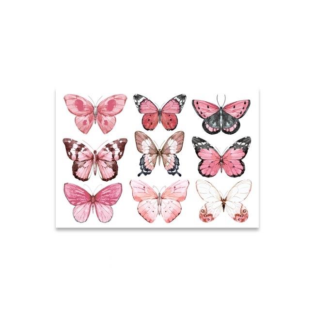 Folie für den Gipsabdruck vom Babybauch mit Schmetterlingen