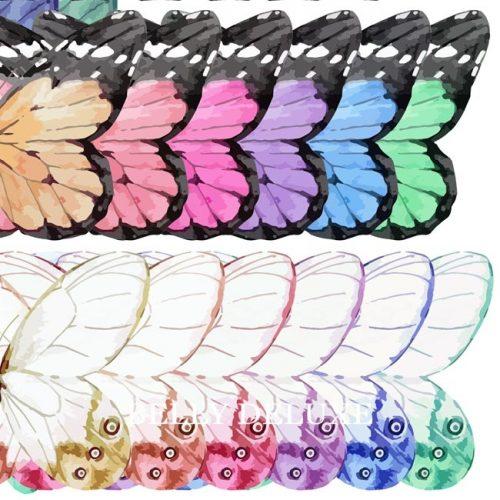 Gipsabdruck Babybauch Folie mit Schmetterlingen in 6 Farben