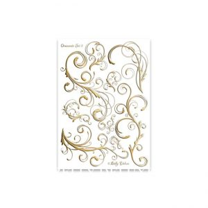 Gipsabdruck Motivfolie mit Ornamenten Set 5