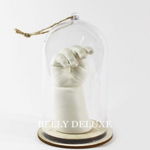 3d Baby Handabdruck mit Schutzhaube aus Kunststoff