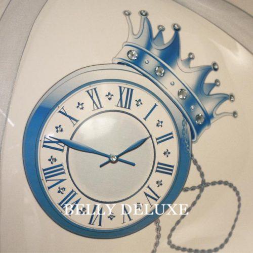 Babybauch Gipsabdruck Aufkleber Motivfolie Uhr