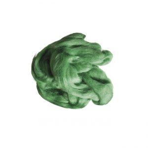 Kammzug zum Filzen, grün