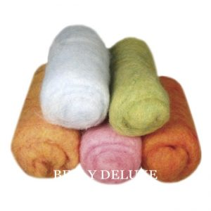 Wolle zum Filzen warme Farben