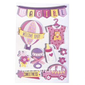 Baby sticker rosa
