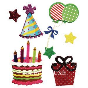 Geburtstags-sticker- 3d