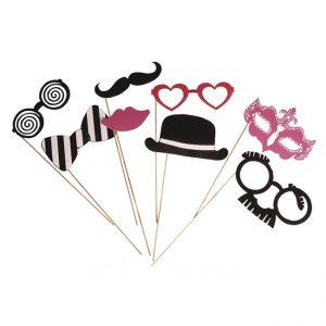 Party Masken Brille Hut Bart