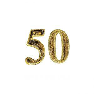 Zahl 50 aus Wachs