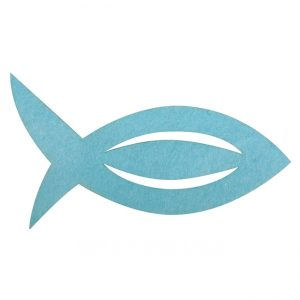 Fisch für Serviette aus Filz
