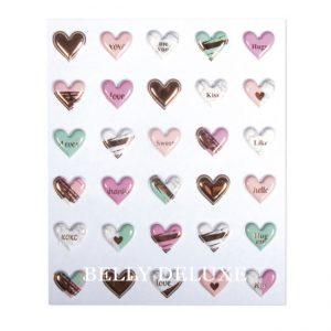 3d Aufkleber Herzen
