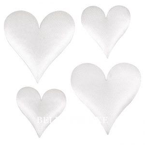 Herzen aus Satin weiß