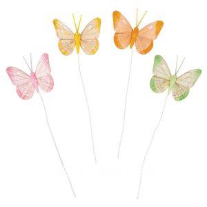 Bunter Schmetterlinge aus Federn