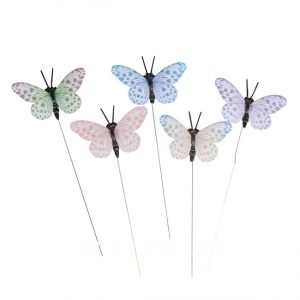 Bunte Schmetterlinge aus Papier