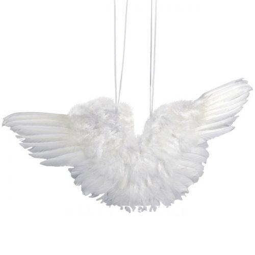 Flügel aus Federn weiss