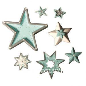 Form mit Sternen zum ausgiessen