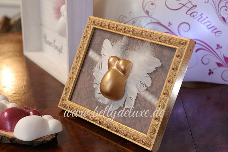 Goldener Mini Babybauchabdruck