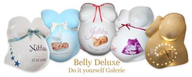 Babybauchabdrücke mit Dekoration