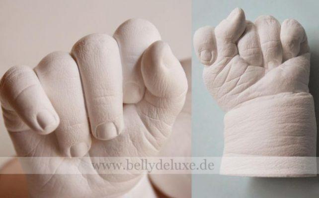 3d Baby Handabdruck selber machen Anleitung
