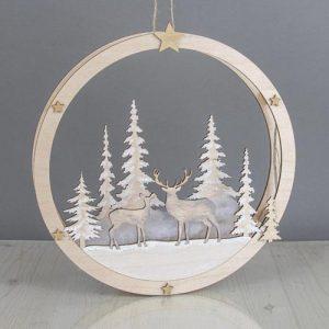 Holz Bausatz Weihnachtskranz