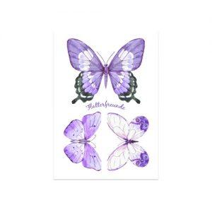 Motivfolie für den Gipsabdruck mit 3 Schmetterlingen