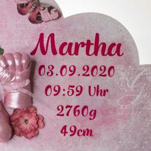 Motivfolie Sticker mit Name und Geburtsdatum