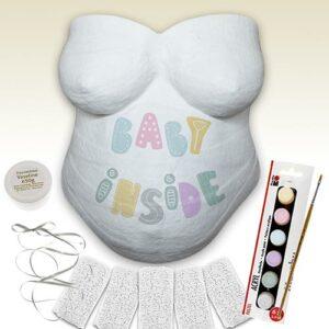 Babybauch Gipsabdruck Set mit Farbe
