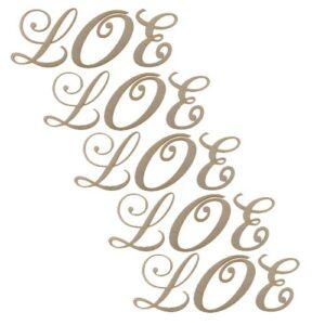 LOE Holzbuchstaben für Love Rahmen Set