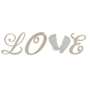 Love Buchstaben Set für 3d Baby Fußabdrücke