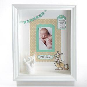 Babyrahmen Kango mit Foto Namensschild, und Geburtsdaten