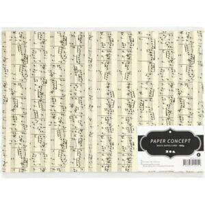 Karton mit Musiknoten verpackt