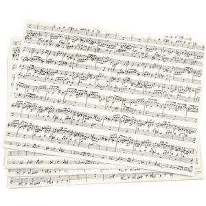 Kraftpapier Musiknoten