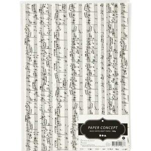 Kraftpapier Musiknoten verpackt