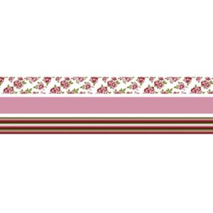 Fabric Tape Set Rosen gemischt