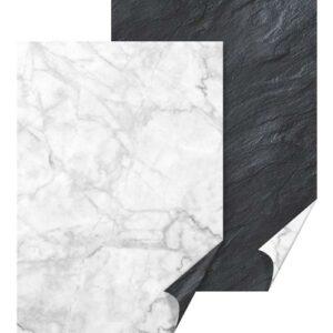 Motivkarton Schiefer/Marmor