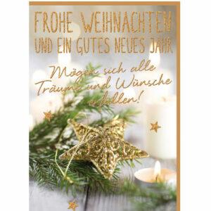 Glückwunschkarte Weihnachten und ein gutes neues jahr