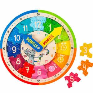 Holz Puzzle Ebenen Uhr