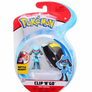 Pokemon clip'n'go set riolu