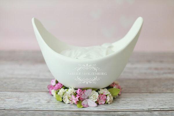 Belly Bowl mit Blumen Ständer