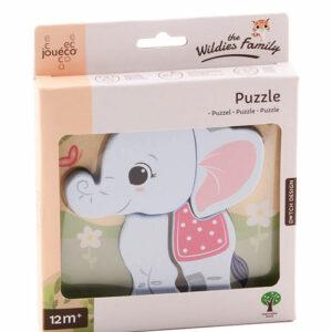 Holzformen Steckpuzzle Elefant