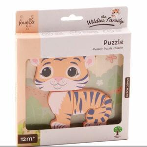 Holzformen Steckpuzzle Tiger