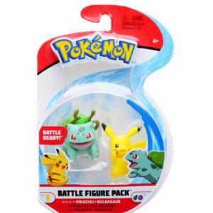 Pokemon Battle Figur Pikachu und Bisasam