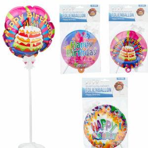 Selbstaufblasender Folienballon Happy Birthday