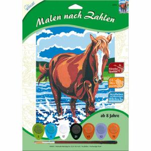Malen nach Zahlen Pferd im Wasser